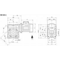 Мотор-редуктор CMP-063/040