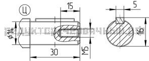 Чертеж быстроходных валов 1Ч2 63А-40