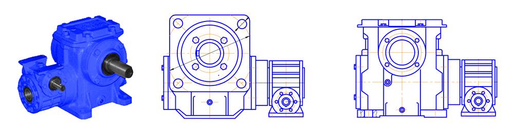 Червячные двухступенчатые редукторы 1Ч2 40-63а