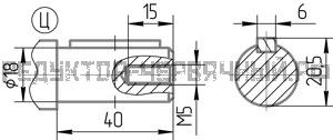 Чертеж быстроходного вала редуктора 5Ч2 125-63