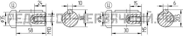 Чертеж валов редуктора 5Ч2 80-40
