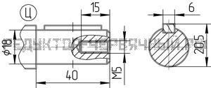 Чертеж входного вала редуктора 5Ч2 100-63