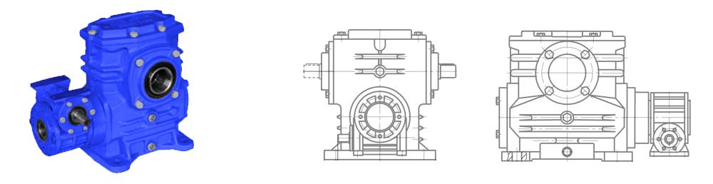 Червячный двухступенчатый редуктор 5Ч2 80-40
