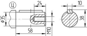 Чертеж тихоходного вала 5МЧ-80