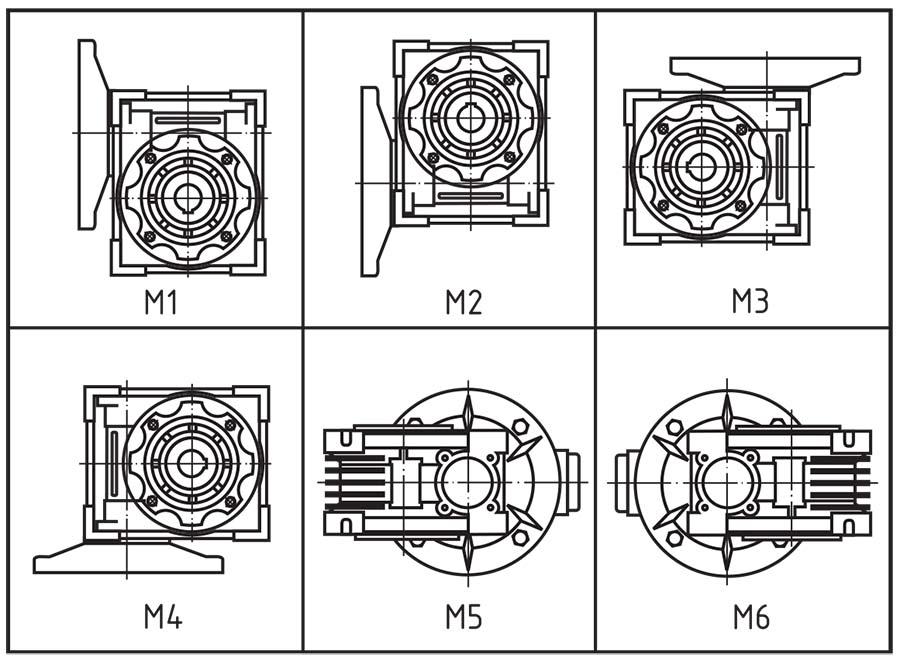 Монтажные положения второй ступени 9МЧ2