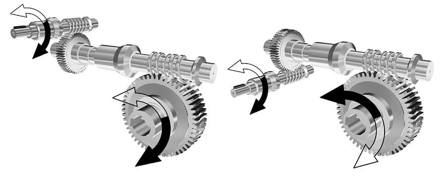 Червячные пары мотор-редуктора 9МЧ2