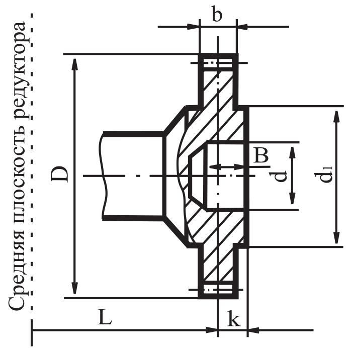 Чертеж зубчатой муфты редуктора Ц2У-315Н
