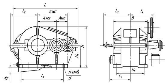 Чертеж редуктора Ц2-400