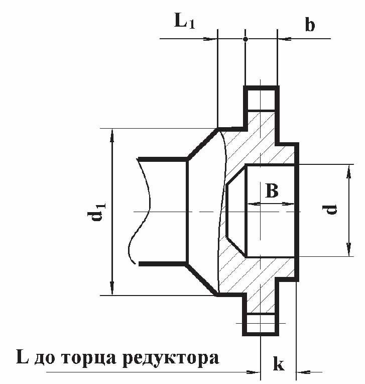 Чертеж муфты редуктора РМ-400