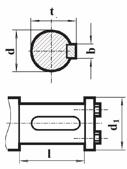 Чертеж валов редуктора РМ-400 под муфты