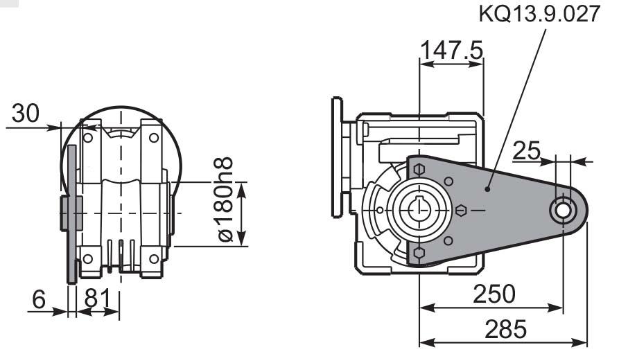Чертеж редуктора Q 13 hydro-mec штанга