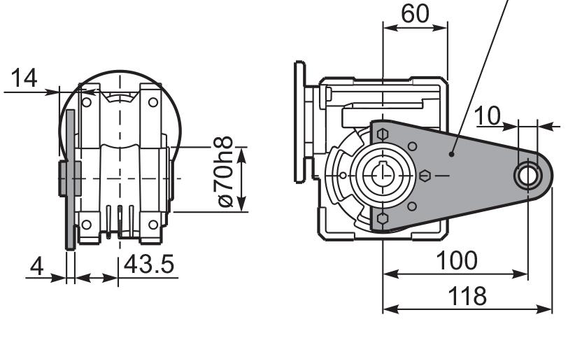 Чертеж редуктора Q 50 hydro-mec штанга