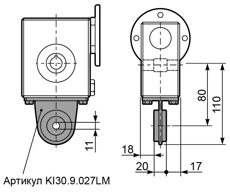 Чертеж редуктора I 30 innovari штанга