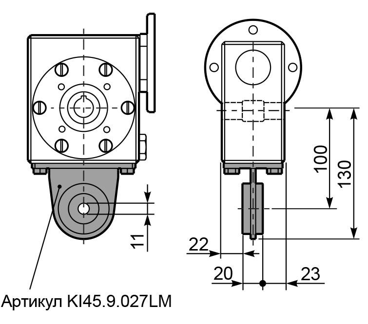 Чертеж редуктора I 45 innovari штанга