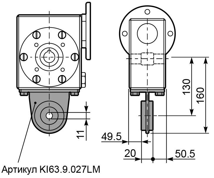 Чертеж редуктора I 63 innovari штанга