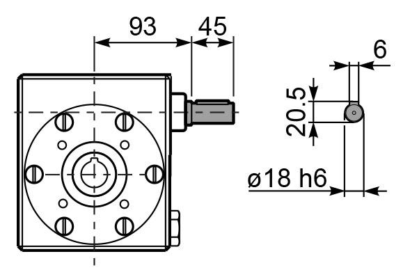 Чертеж редуктора I 63 innovari входной вал
