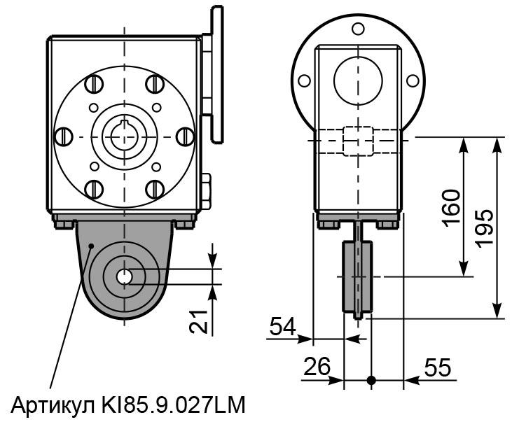 Чертеж редуктора I 85 innovari штанга