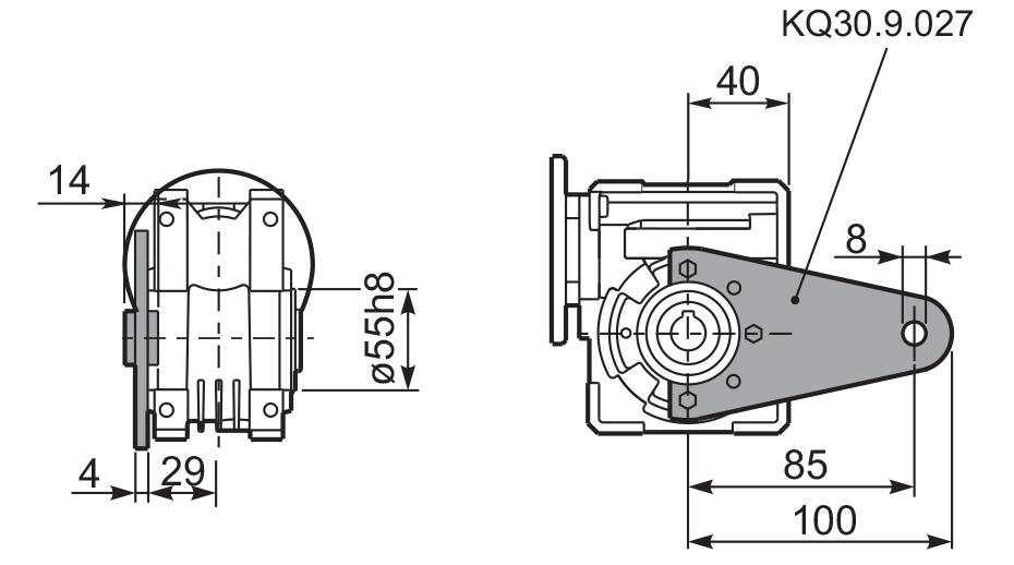 Чертеж редуктора Q 30 innovari штанга