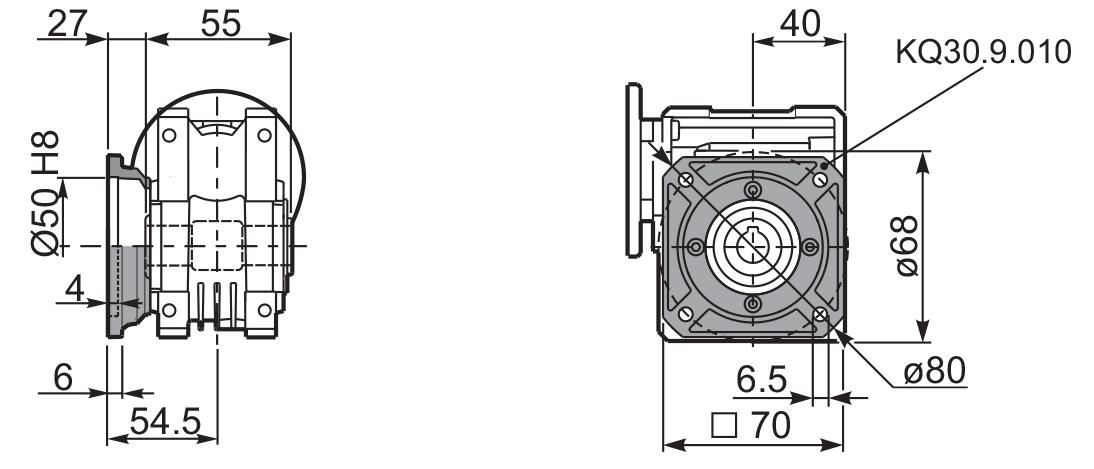 Чертеж редуктора Q 30 innovari фланцы