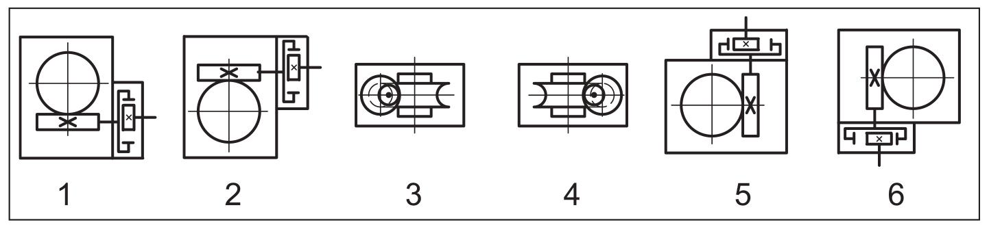 Расположение червячной пары мотор-редуктора МЦЧ-40