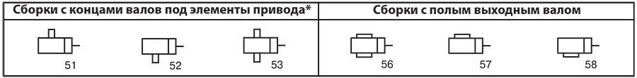 Варианты исполнения планетарно-червячного редуктора ПЧ-80