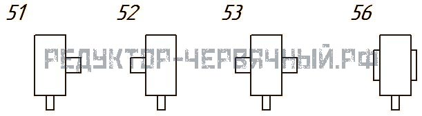 Варианты сборки редуктора 1Ч 63