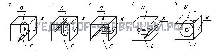 Вариант сборки червячной пары редуктора 1Ч 80