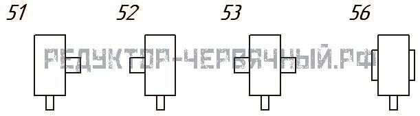Исполнение редукторов 1Ч-80