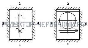 Варианты креплений редуктора 2Ч 63