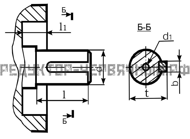 Входной цилиндрический вал 2ЧМ 40
