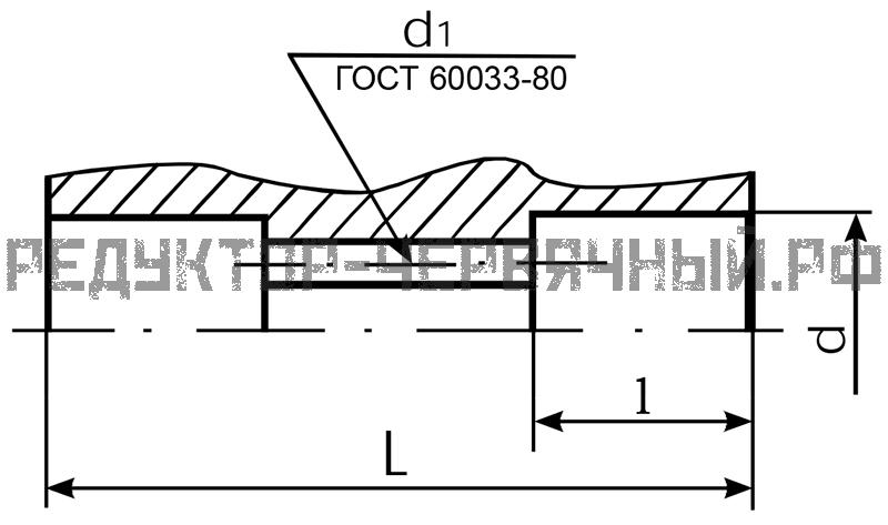 Шлицевой вал редуктора 2ЧМ 40
