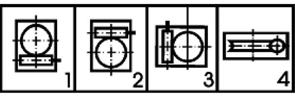Вариант расположения червячной пары редуктора 2ЧМ 40