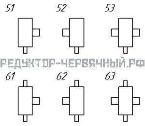 Варианты сборки редукторов РЧН