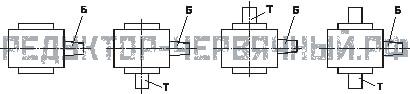 Схема сборок редукторов РЧУ