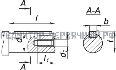 Чертеж валов мотор редукторов МЧ 40-80