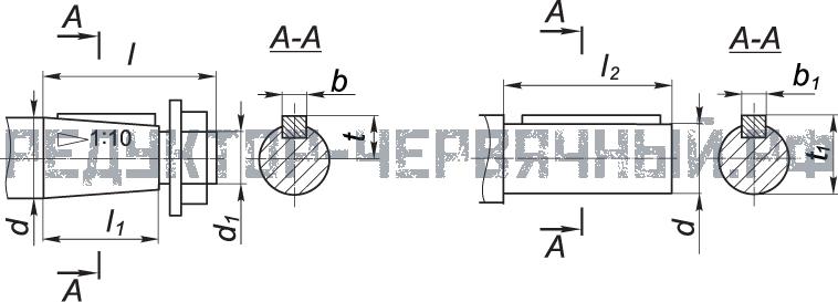 Чертеж валов мотор-редуктора МЧ 100
