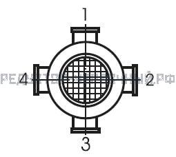 Расположение клеммной коробки на электродвигателе мотор-редуктора МЧ 100