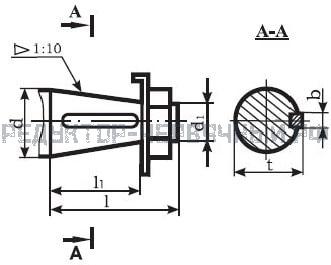 Чертеж конусного вала мотор редуктора МЧ 125