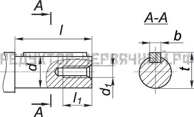 Чертеж цилиндрического вала мотор редуктора МЧ 125