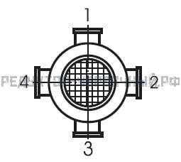 Расположение клеммной коробки электродвигателя мотор-редуктора МЧ 100