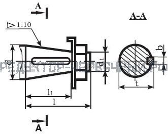 Чертеж конусного вала мотор редуктора МЧ 160