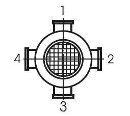 Расположение клеммной коробки электродвигателя мотор-редуктора МЧ 160