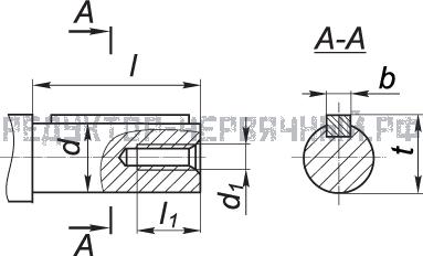 Схема цилиндрического вала мотор редуктора МЧ 80