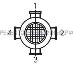 Вариант исполнения клеммной коробки на редукторе МЧ 80 (МРЧ 80)