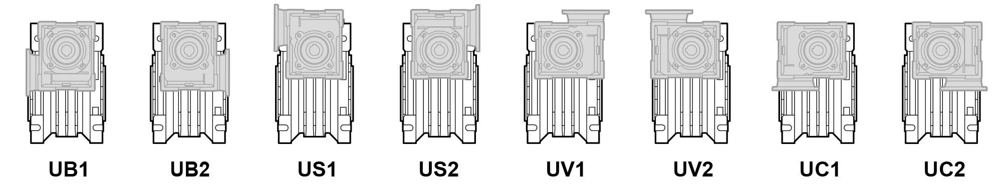 Монтажное исполнение первой ступени мотор-редукторов CMM