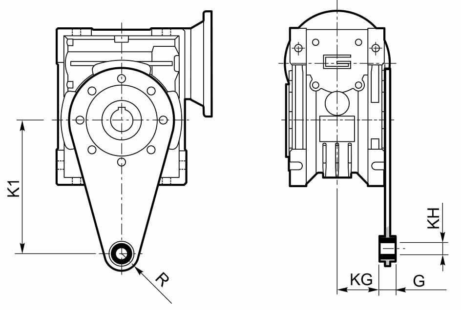Размер штанги мотор-редуктора CMP